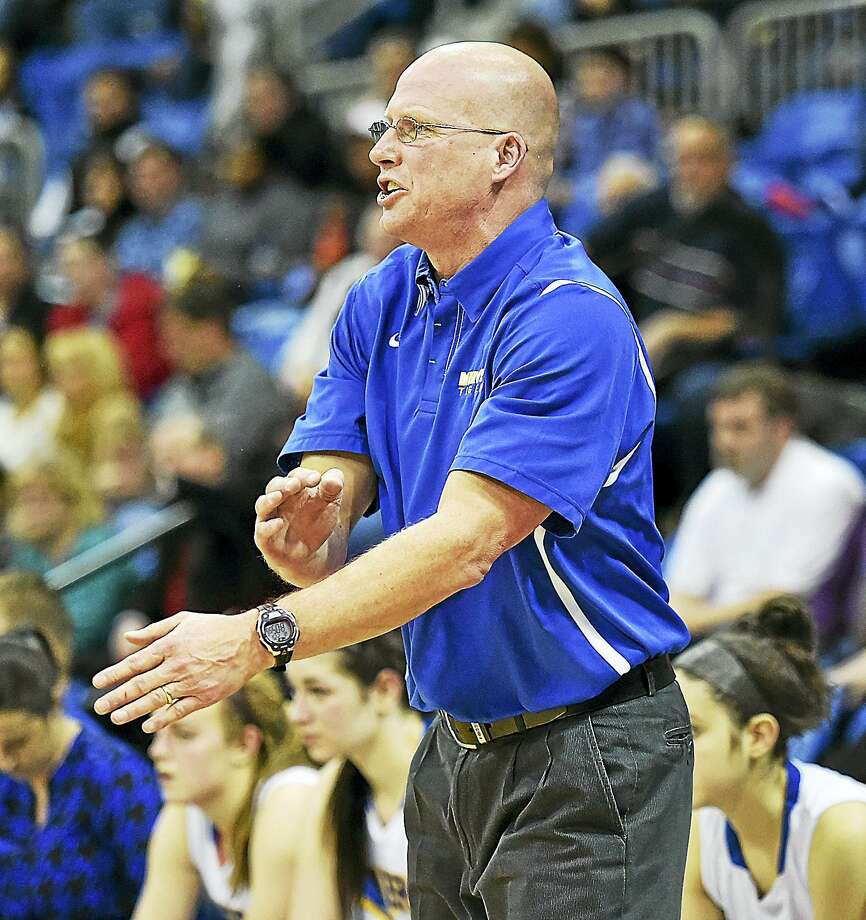 Mercy girls basketball coach Tim Kohs is entering his 25th season with the Tigers. Photo: Jimmy Zanor / Digital First Media / New Haven RegisterThe Middletown Press