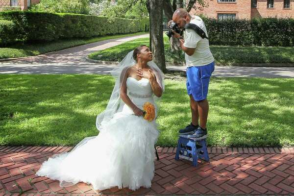 Chrisceldia Marshall, like many other brides, chose to have her wedding photos taken in the Broadacres' tree-lined esplanades. New HOA rules may limit that now.