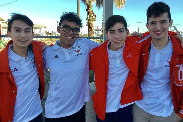 The United 200-yard relay team of Brian Salomon Sevilla, Israel Muniz, David Mendoza and David Gonzalez Jr. broke the UISD record with a 1:33.84 at the BISD Pre-Regional Showcase Saturday afternoon.