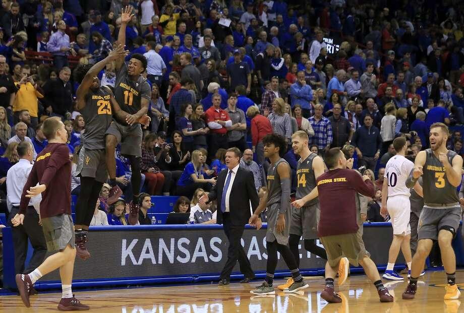 Men's basketball: No. 16 Arizona State KOs No. 2 Kansas