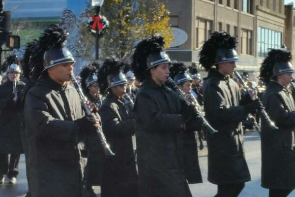 Member of Torrington High School's marching band traveled down Main Street Sunday.