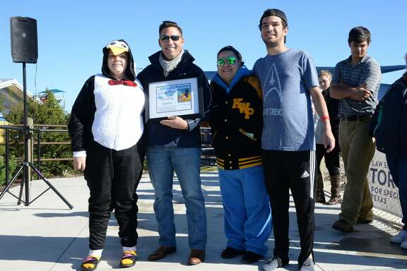 Participants at the Special Olympics Texas Annual Polar Plunge at Typhoon Texas Waterpark on Saturday, December 9, 2017 in Katy, TX.