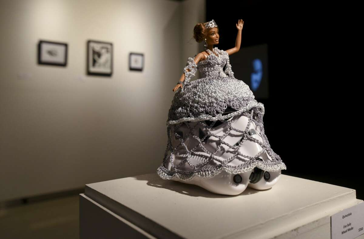 Art exhibited at the Art Wars 2.0 event on Friday, Dec. 8, 2017, at the Laredo Center for the Arts.
