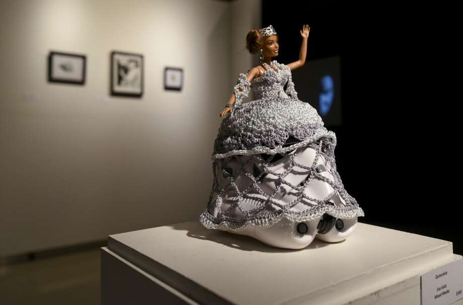 Art exhibited at the Art Wars 2.0 event on Friday, Dec. 8, 2017, at the Laredo Center for the Arts. Photo: Danny Zaragoza