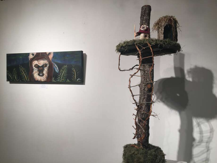 Art is exhibited during the first Art Wars art exhibit in December 2016. Photo: Courtesy Photo