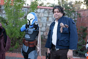 """The force was strong in San Antonio on Sunday, Dec. 10, 2017, when the fourth annual Wookie Walk took over La Villita just ahead of """"Star Wars: The Last Jedi"""" hitting theaters. Fans converged for food, drinks, music and art, plus a wide array of epic costumes."""