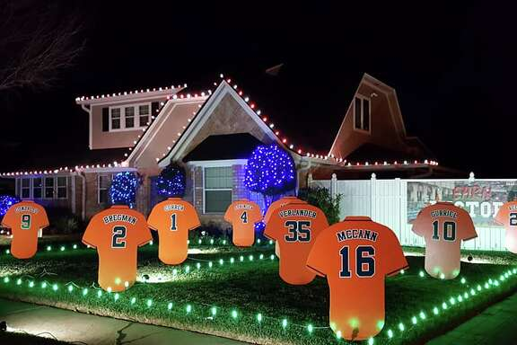 A Pearland guy joined a handful of other Houston-area residents in dedicating their front lawn Christmas decorations to the Astros' epic World Series run.  See more photos of this Christmas display in one of Pearland's oldest neighborhoods...