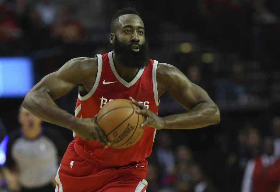 James Harden has dominated this year after a tough end to 2016-17. Photo: Yi-Chin Lee /Houston Chronicle / © 2017 Houston Chronicle