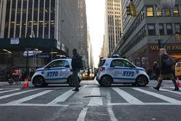 New York police closed the intersection of 39th Street and Seventh Avenue in Manhattan after an explosion at the 42nd Street subway station. Authorities said a terrorist tried to detonate a bomb in the station.