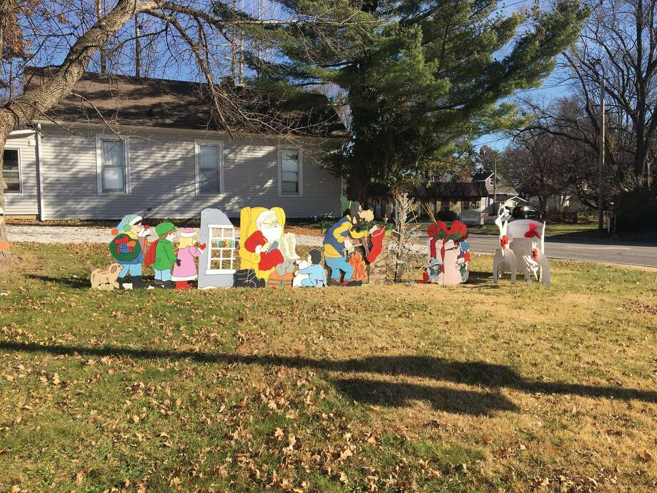 For decades, the house on the northeast corner of South Main Street at Schwarz Street has decorated its yard and the lot next to it with a large Christmas display. Some years, the Grinch appears on the side of the house's chimney. Photo: Bill Tucker • Btucker@edwpub.net