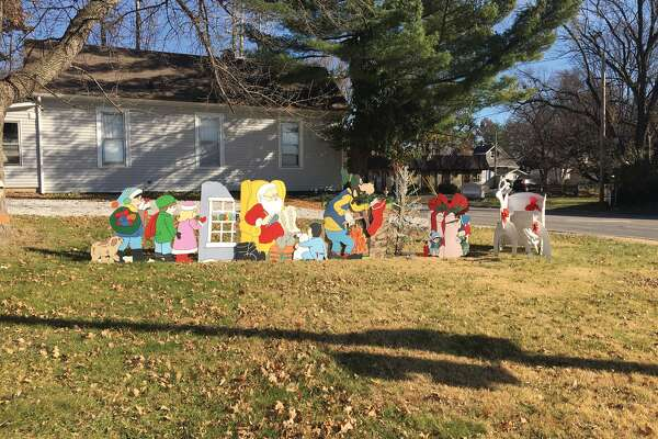 For decades, the house on the northeast corner of South Main Street at Schwarz Street has decorated its yard and the lot next to it with a large Christmas display. Some years, the Grinch appears on the side of the house's chimney.
