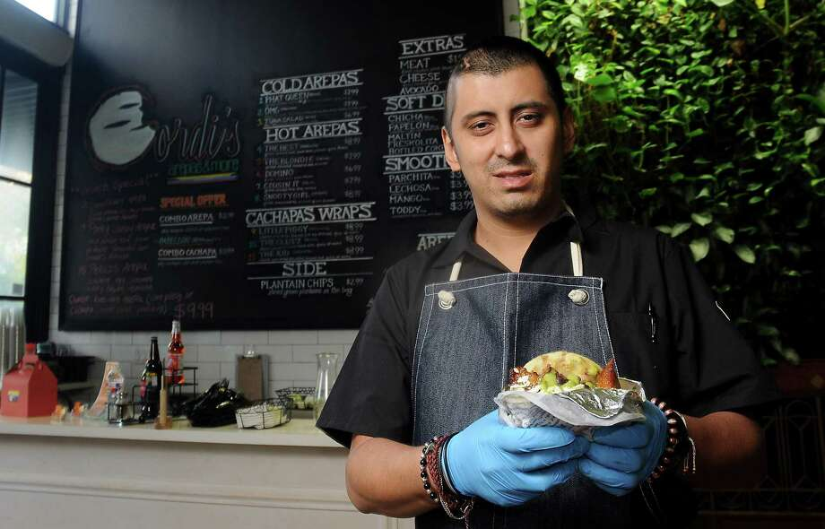 Chef/owner David Guerrero at Gordi's Arepas & More at The Conservatory downtown. Photo: Dave Rossman, For The Chronicle / Dave Rossman