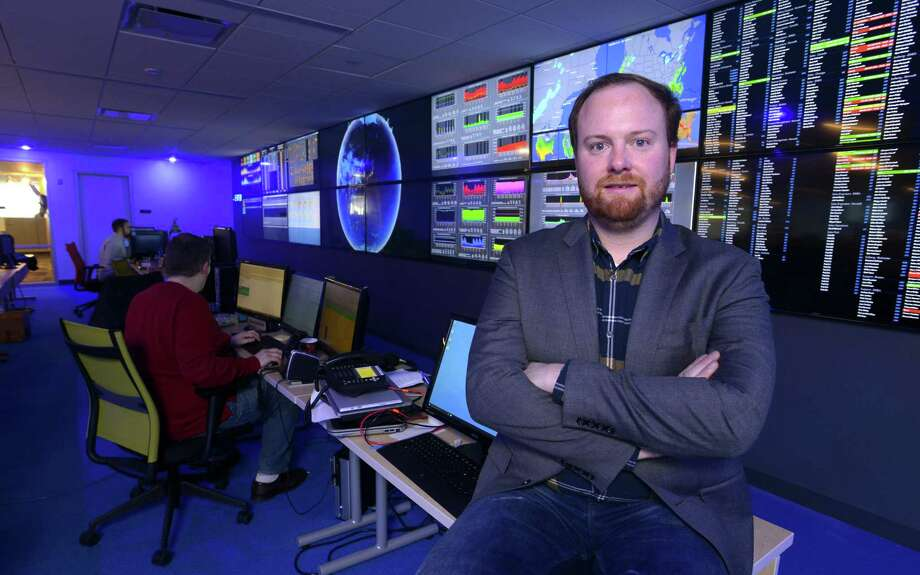 Datto CEO Austin McChord in January 2016 at the company's headquarters in Norwalk, Conn. Photo: Matthew Brown / Hearst Connecticut Media / Stamford Advocate