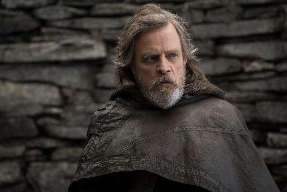 Star Wars: The Last Jedi..Luke Skywalker (Mark Hamill). Photo: John Wilson, Lucasfilm Ltd.