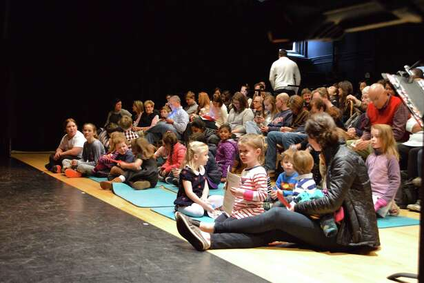 "The sold-out crowd waits for the show to start at the ""Scenes from the Nutcracker"" performance at Darien Arts Center, Saturday, Dec. 9, 2017, in Darien, Conn."