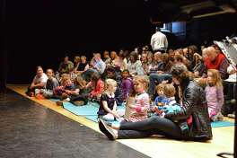 """The sold-out crowd waits for the show to start at the """"Scenes from the Nutcracker"""" performance at Darien Arts Center, Saturday, Dec. 9, 2017, in Darien, Conn."""