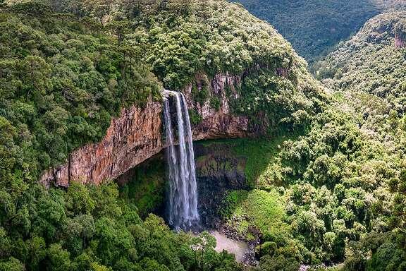 Caracol Falls in Canela, Brazil.