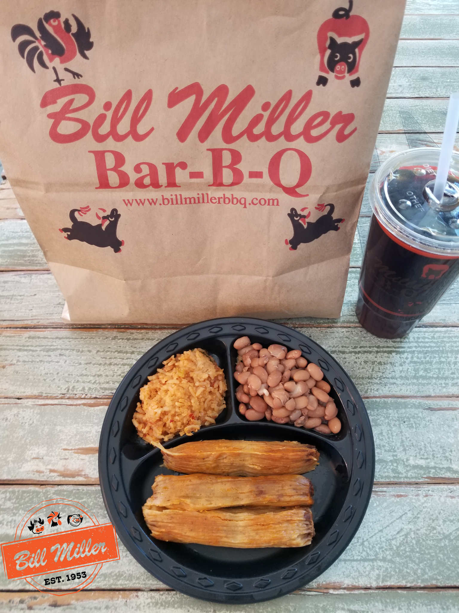 Bill Miller Bar B Q Selling Tamales For The First Time