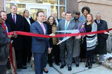 City and State officials joined Bridgeport Neighborhood Trust to cut the ribbon on the Westgate Apartment.