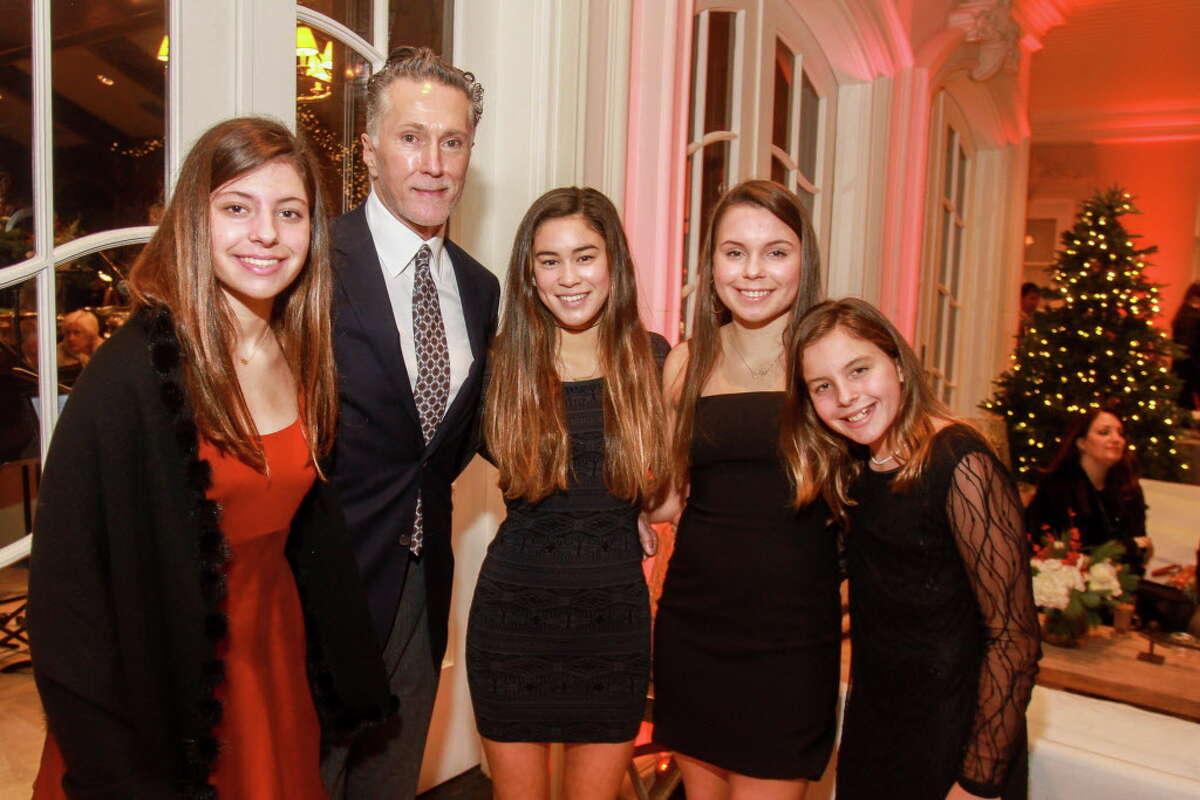 Sophia Cone, from left, Greg Fourticq, Olivia Gore, Olivia Cone and Victoria Cone