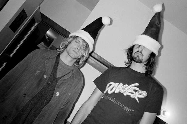 """An early photo of Nirvana frontman Kurt Cobain and bassist and co-founder Krist Novaselic taken by Karen Mason-Blair. """"Nostalgia is For Losers"""" will showcase Collins' memorabilia and Karen Mason-Blair's photos from the 1990s grunge era. The exhibit opens Friday at The Bakeree in Sodo with a reception from 6 p.m. to 9 p.m. and runs through the end of January."""