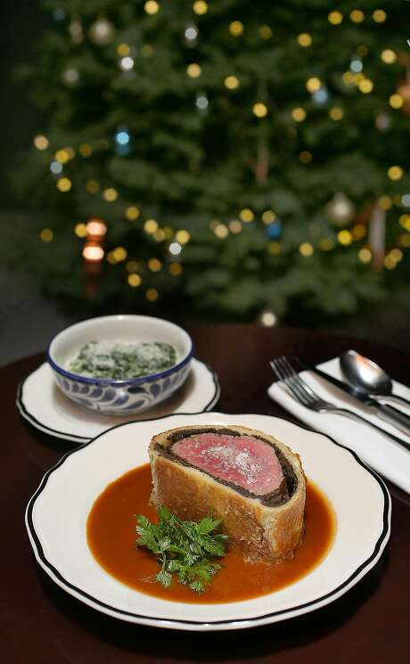 Beef Wellington at Maybeck's. Photo: Liz Hafalia, The Chronicle