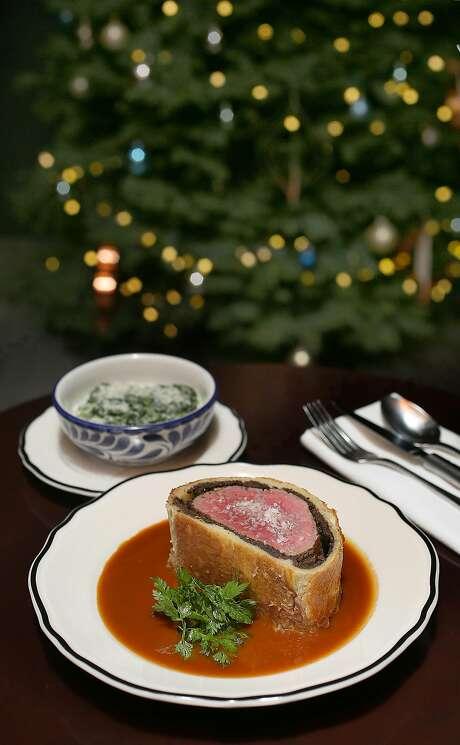 Beef Wellington at Maybeck's. Photo: Liz Hafalia, The Chronicle
