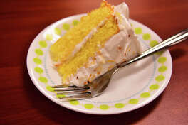 Inspired by a treat made by his grandmother, Lance Gray of Schenectady competed with limoncello cake with seven-minute frosting in the Hannaford-sponsored Mario Batali Home Chef Challenge on Dec. 4, 2017, in Albany, NY.