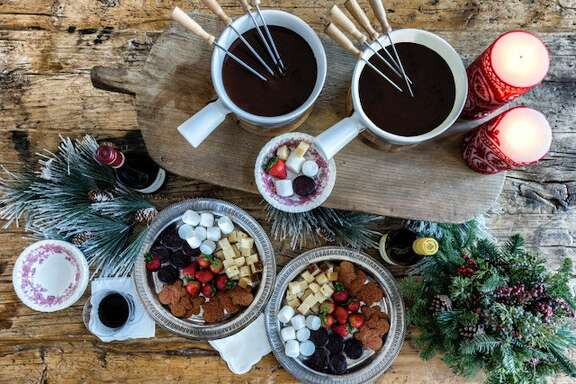 Easy Chocolate Fondue can be tailored with peppermint or more traditional vanilla.