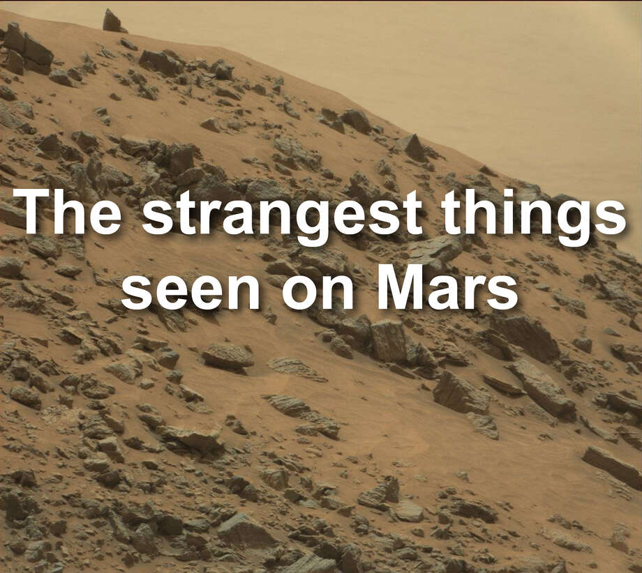 Scroll for a look at some of the weirdest things spotted on Mars. Photo: NASA