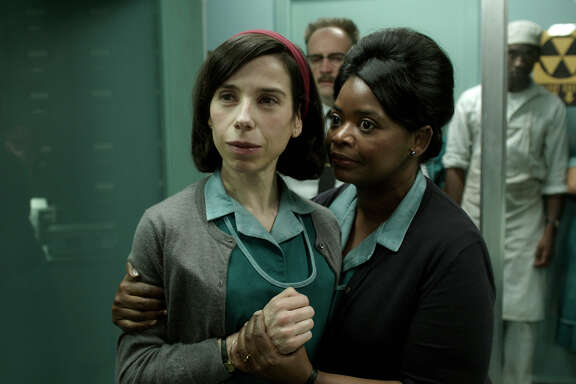 "Sally Hawkins, left, and Octavia Spencer star in ""The Shape of Water."" Hawkins was nominated for a Golden Globe for best actress in a motion picture drama for her role in the film."