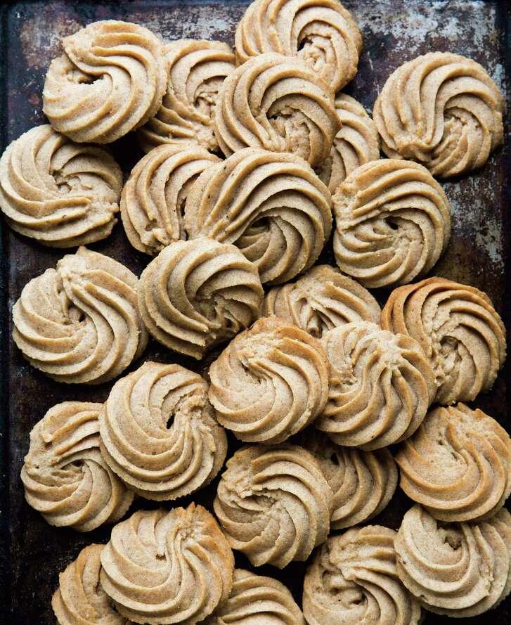 "Pain D'Epices Shortbread Swirls from ""Holiday Cookies"" by Elisabet der Nederlanden."