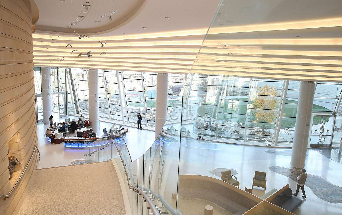 View of the lobby of the new building of Lucile Packard Children's Hospital on Wednesday, December 6, 2017, in Palo Alto, CA.