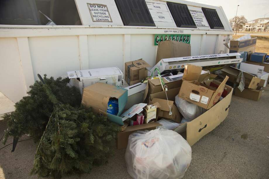 Much of residents' holiday waste can be recycled. Cardboard waste, aluminum and plastic are among items that are abundant during the holidays and can be recycled. Photo: Tim Fischer/Midland Reporter-Telegram