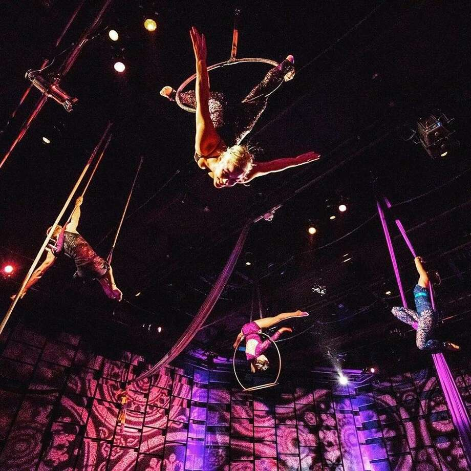 Aerial Horizon -- shown performing at the Tobin Center for the Performing Arts -- is asking its followers to make decisions for its next show. Photo: Courtesy Photo