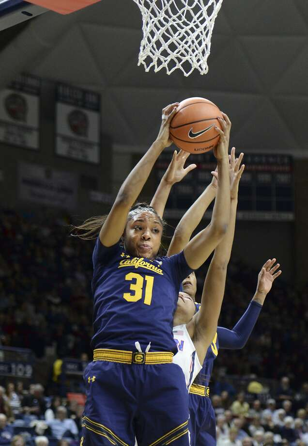 Cal's Kristine Anigwe is the Pac-12's Player of the Week. Photo: Stephen Dunn, Associated Press