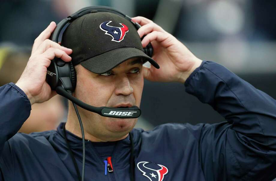 "Bill O'Brien is happy on the Texans' sideline. ""My family and I, we love living here. And I enjoy coaching these players, and I enjoy coaching with this staff."" Photo: Brett Coomer, Staff / © 2017 Houston Chronicle"