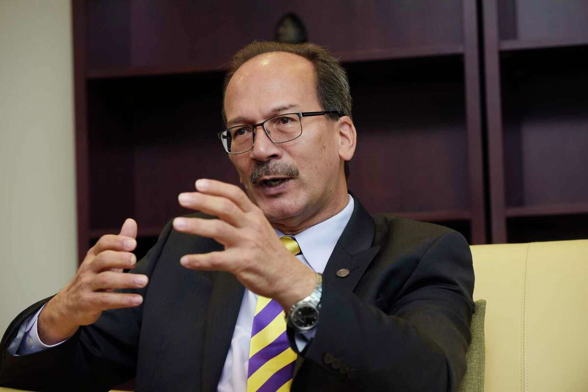 The new president of the University at Albany, Havidan Rodriguez, talks about his life during an interview on Wednesday, Sept. 27, 2017, in Albany, N.Y. (Paul Buckowski / Times Union)