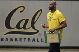 Cal Golden Bears men's head basketball coach Wyking Jones watches team members practice at the UC Berkeley Recreational Sports Facility on Wednesday, November 8, 2017 in Berkeley, Calif.