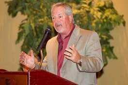 Oakland Athletics executive Grady Fuson talks during the annual West Texas Sports Banquet at Midland Country Club on Thursday. James Durbin/Reporter-Telegram