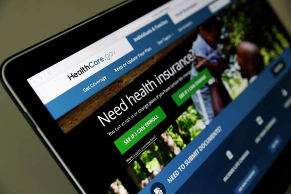 FILE - In this May 18, 2017 file photo, the Healthcare.gov website is seen on a laptop computer, in Washington. The Trump administration came in looking to dismantle Barack Obama's health care law, but the Affordable Care Act survived. Now the administration is on the line to deliver a smooth finale to sign-up season, with a crush of customers expected this week. Friday, Dec. 15 is the last day for procrastinators to enroll for subsidized private coverage in 39 states served by HealthCare.gov. (AP Photo/Alex Brandon, File)