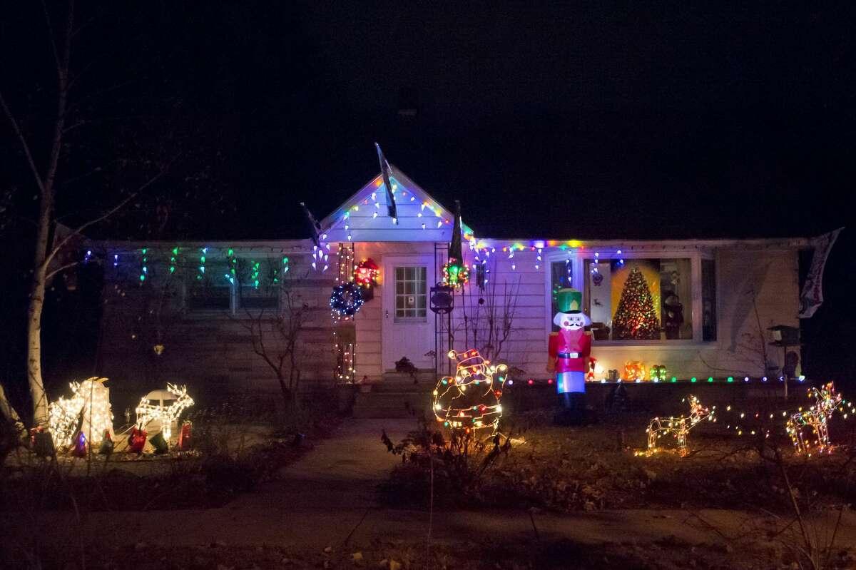 Christmas lights adorn homes across Midland as the holiday approaches. (Katy Kildee/kkildee@mdn.net)