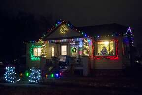 Christmas lights adorn homes across Midland as the holiday approaches. (Katy Kildee/kkildee@mdn.net)