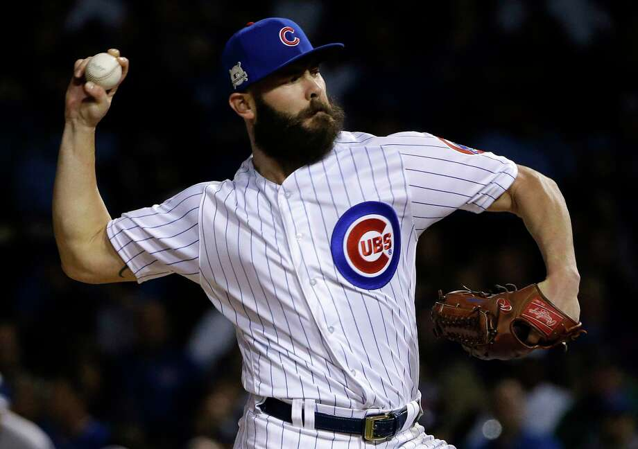 Jake Arrieta, above, who won the 2015 NL Cy Young Award with the Cubs, and Yu Darvish are considered the top starting pitchers available via free agency. Photo: Nam Y. Huh, STF / Copyright 2017 The Associated Press. All rights reserved.