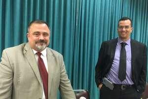 New Bridgeport BOE Chairman John Weldon and board member Joe Sokolovic