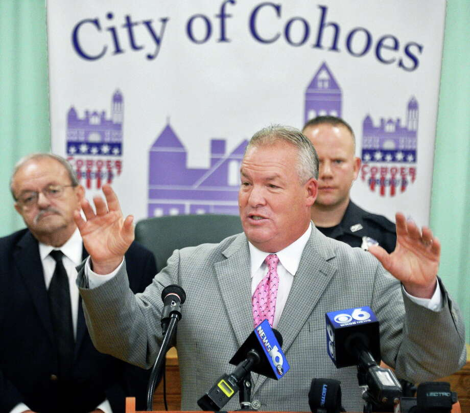 Mayor Shawn Morse during a news conference at City Hall Wednesday Sept. 6, 2017 in Cohoes, NY.  (John Carl D'Annibale / Times Union) Photo: John Carl D'Annibale / 20041473A