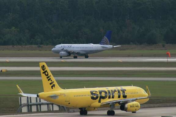A Spirit Airlines Airbus taxis at Bush Inter-continental Airport earlier this year. Spirit removed a breast-feeding woman from one of its jets Friday.