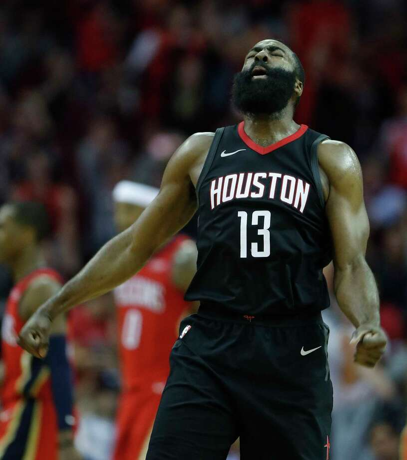 James Harden contributed 26 points and 17 assists Monday night as the Rockets won their 10th in a row. Photo: Karen Warren, Staff / © 2017 Houston Chronicle