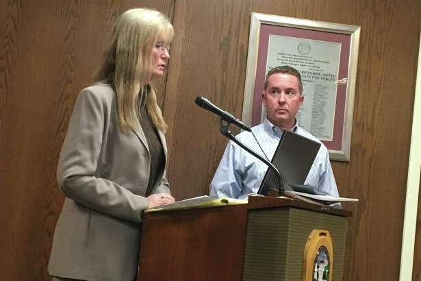 West Haven Mayor Nancy Rossi, left, and Finance Director Kevin McNabola update the City Council on the state of the city's finances Monday.