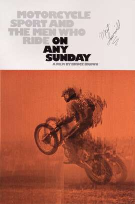 A poster for Bruce Brown's 1971 documentary 'On Any Sunday'. (Photo by Movie Poster Image Art/Getty Images)